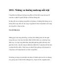 2011: Những xu hướng makeup nổi trội