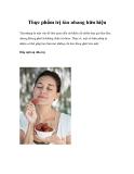 Thực phẩm trị tàn nhang hữu hiệu