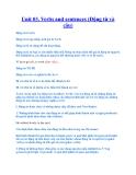 Unit 03. Verbs and sentences (Động từ và câu)