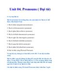 Unit 04. Pronouns ( Đại từ)