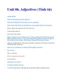 Unit 06. Adjectives (Tính từ)
