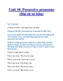 Unit 10. Possessive pronouns (Đại từ sở hữu)