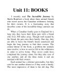 Unit 11: BOOKS