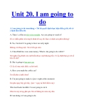 Unit 20. I am going to do