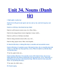 Unit 34. Nouns (Danh từ)