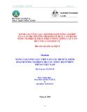 Báo cáo 8: Nâng cao năng lực tiếp cận các dịch vụ Kinh doanh nông nghiệp cho các nông hộ ở Miền Trung Việt Nam