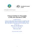 Dự án nghiên cứu nông nghiệp: TĂNG CƯỜNG KHẢ NĂNG GIÁM SÁT VÀ KHỐNG CHẾ BỆNH LỞ MỒM LONG MÓNG (LMLM) Ở TRÂU , BÒ VÀ HEO GÓP PHẦN NÂNG CAO AN TOÀN SINH HỌC CHO QUỐC GIA - Milestones 6&9'