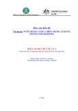 """Báo cáo nghiên cứu nông nghiệp """" NUÔI THÂM CANH CÁ BIỂN TRONG AO BẰNG MƯƠNG NỔI - BÁO CÁO 2&4 """""""
