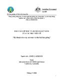 """Báo cáo nghiên cứu nông nghiệp """" Kỹ thuật trèo cây an toàn và thu hái hạt giống   """""""