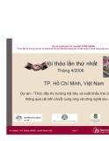 Dự án nghiên cứu: Thúc đẩy thị trường nội tiêu và xuất khẩu trái cây Việt Nam thông qua cải tiến chuỗi cung ứng và công nghệ sau thu hoạch '