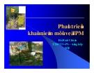"""Báo cáo nghiên cứu nông nghiệp """" Phát triển khái niệmmới về IPM """""""
