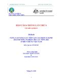 Báo cáo 6 tháng lần 6: Nâng cao năng lực tiếp cận các dịch vụ Kinh doanh nông nghiệp cho các nông hộ ở Miền Trung Việt Nam