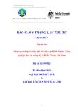 """Báo cáo nghiên cứu nông nghiệp """" Nâng cao năng lực tiếp cận các dịch vụ Kinh doanh nông nghiệp cho các nông hộ ở Miền Trung Việt Nam - MS7 """""""