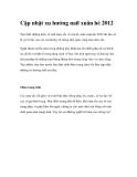 Cập nhật xu hướng nail xuân hè 2012