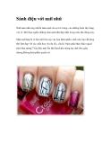 Sành điệu với nail nhũ