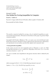"""Báo cáo hóa học: """" Research Article One Method for Proving Inequalities by Computer"""""""