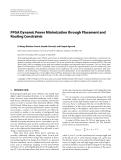 "Báo cáo hóa học: "" FPGA Dynamic Power Minimization through Placement and Routing Constraints"""