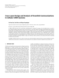 """Báo cáo hóa học: """" Cross-Layer Design and Analysis of Downlink Communications in Cellular CDMA Systems"""""""
