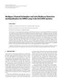 "Báo cáo hóa học: ""  Multipass Channel Estimation and Joint Multiuser Detection and Equalization for MIMO Long-Code DS/CDMA Systems"""