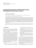 """Báo cáo hóa học: """" Frequency Domain Detectors in Different Short-Range Ultra-Wideband Communication Scenarios"""""""