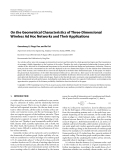"""Báo cáo hóa học: """"  On the Geometrical Characteristics of Three-Dimensional Wireless Ad Hoc Networks and Their Applications"""""""