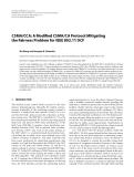 "Báo cáo hóa học: "" CSMA/CCA: A Modified CSMA/CA Protocol Mitigating the Fairness Problem for IEEE 802.11 DCF"""