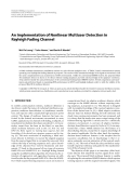 """Báo cáo hóa học: """" An Implementation of Nonlinear Multiuser Detection in Rayleigh Fading Channel"""""""