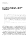 """Báo cáo hóa học: """"  Static and Dynamic 4-Way Handshake Solutions to Avoid Denial of Service Attack in Wi-Fi Protected Access and IEEE 802.11i"""""""