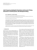 """Báo cáo hóa học: """" Joint Frequency Ambiguity Resolution and Accurate Timing Estimation in OFDM Systems with Multipath Fading"""""""