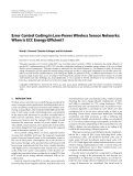 "Báo cáo hóa học: "" Error Control Coding in Low-Power Wireless Sensor Networks: When Is ECC Energy-Efficient?"""