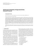 "Báo cáo hóa học: ""  Performance Evaluation of Important Ad Hoc Network Protocols"""