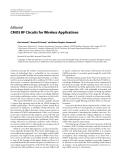 "Báo cáo hóa học: ""  Editorial CMOS RF Circuits for Wireless Applications"""