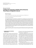 """Báo cáo hóa học: """"  Research Article Intelligent Broadcasting in Mobile Ad Hoc Networks: Three Classes of Adaptive Protocols"""""""