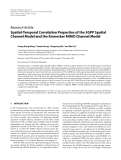 """Báo cáo hóa học: """"  Research Article Spatial-Temporal Correlation Properties of the 3GPP Spatial Channel Model and the Kronecker MIMO Channel Model"""""""