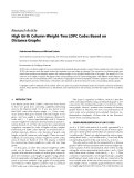 """Báo cáo hóa học: """"  Research Article High Girth Column-Weight-Two LDPC Codes Based on Distance Graphs"""""""