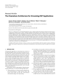 """Báo cáo hóa học: """" Research Article The Chameleon Architecture for Streaming DSP Applications"""""""
