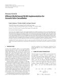 "Báo cáo hóa học: "" Research Article Efficient Multichannel NLMS Implementation for Acoustic Echo Cancellation"""
