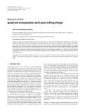 "Báo cáo hóa học: "" Research Article Quadratic Interpolation and Linear Lifting Design"""