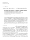 """Báo cáo hóa học: """" Research Article Center of Mass-Based Adaptive Fast Block Motion Estimation"""""""