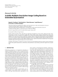 "Báo cáo hóa học: "" Research Article Scalable Multiple-Description Image Coding Based on Embedded Quantization"""