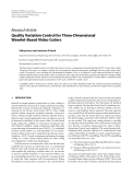 """Báo cáo hóa học: """"  Research Article Quality Variation Control for Three-Dimensional Wavelet-Based Video Coders"""""""