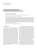 """Báo cáo hóa học: """"  Classification-Based Spatial Error Concealment for Visual Communications"""""""