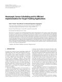 """Báo cáo hóa học: """"  Nonmyopic Sensor Scheduling and its Efficient Implementation for Target Tracking Applications"""""""
