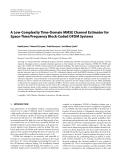 "Báo cáo hóa học: ""  A Low-Complexity Time-Domain MMSE Channel Estimator """