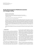 """Báo cáo hóa học: """" On the Channel Capacity of Multiantenna Systems with Nakagami Fading"""""""