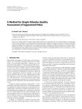 "Báo cáo hóa học: "" A Method for Single-Stimulus Quality Assessment of Segmented Video"""
