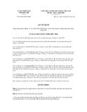 Quyết định số 05/2012/QĐ-UBND