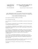 Quyết định số 01/2012/QĐ-UBND