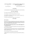 Quyết định số 07/2012/QĐ-TTg