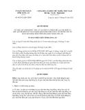 Quyết định số 08/2012/QĐ-UBND